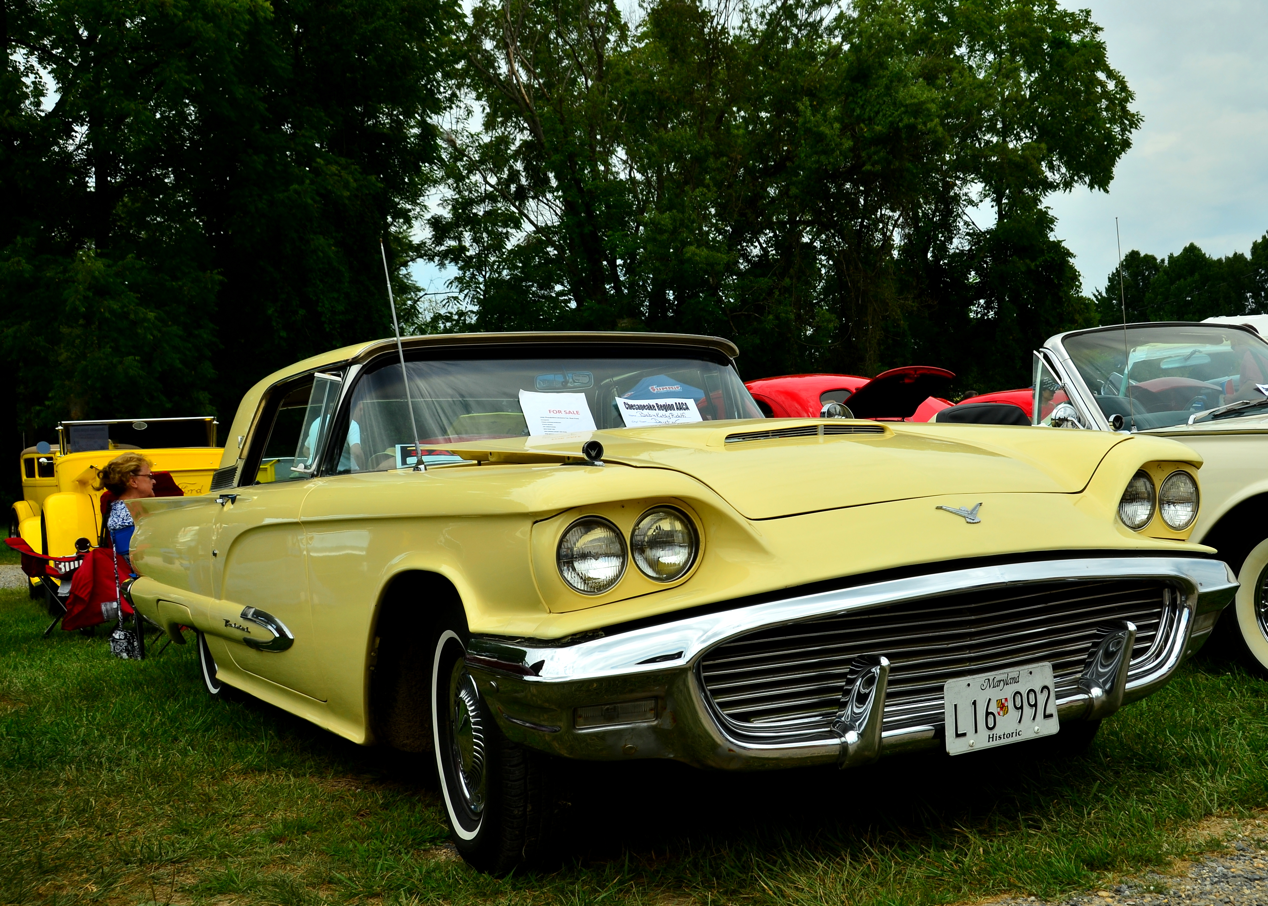 1959 Ford Thunderbird In Light Yellow
