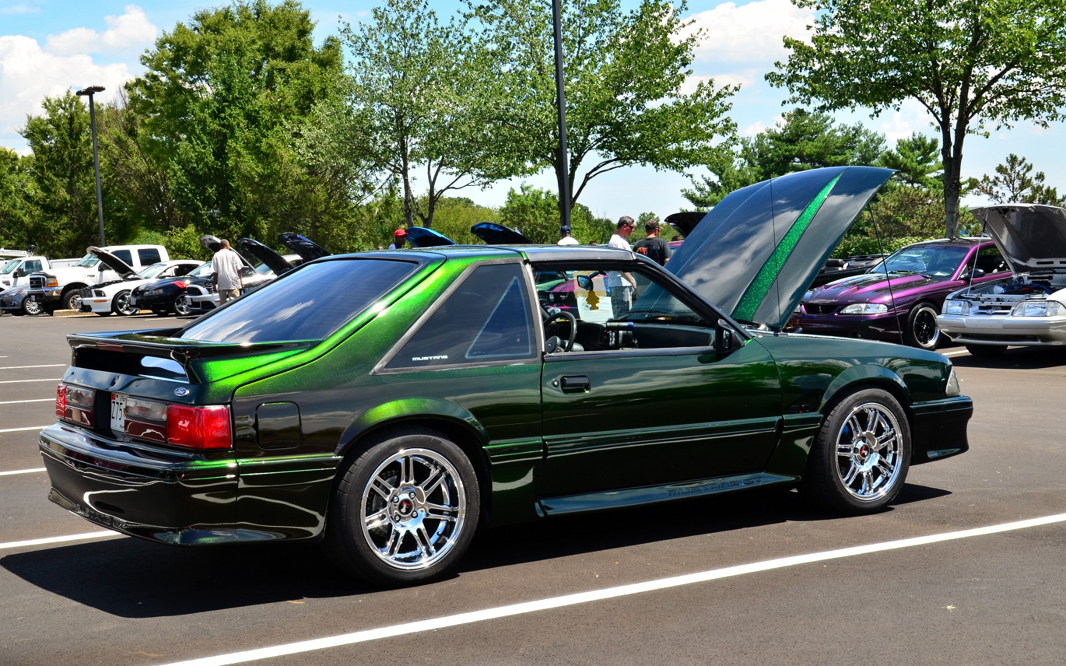 1987 Mustang Gt With Two Tone Paint